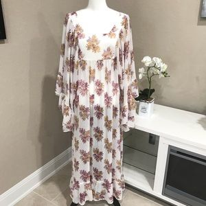 H&M Floral Sheer Maxi Dress- NWOT